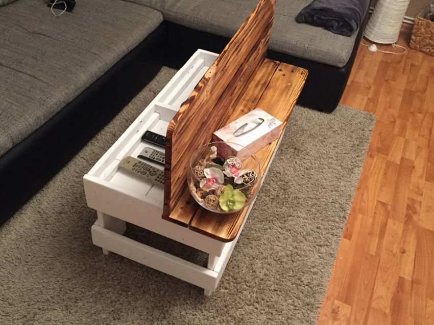 Pallet Kitchen Table storage