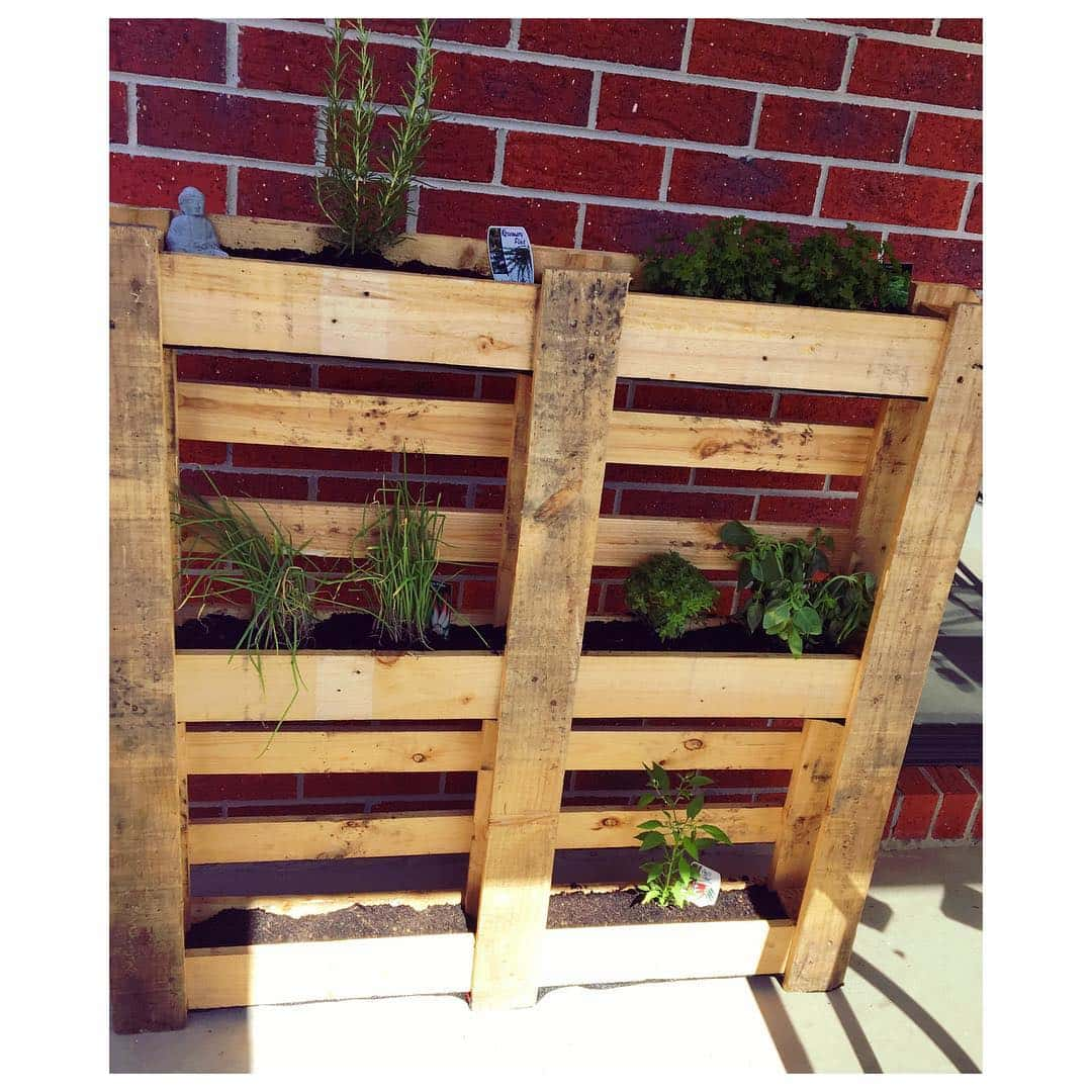 Wooden Pallet Cosmetic Storage Space