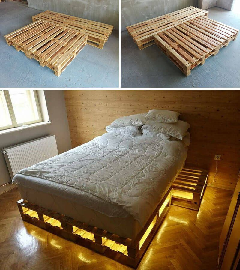 Amazing Ideas of wooden pallet bed with storage -