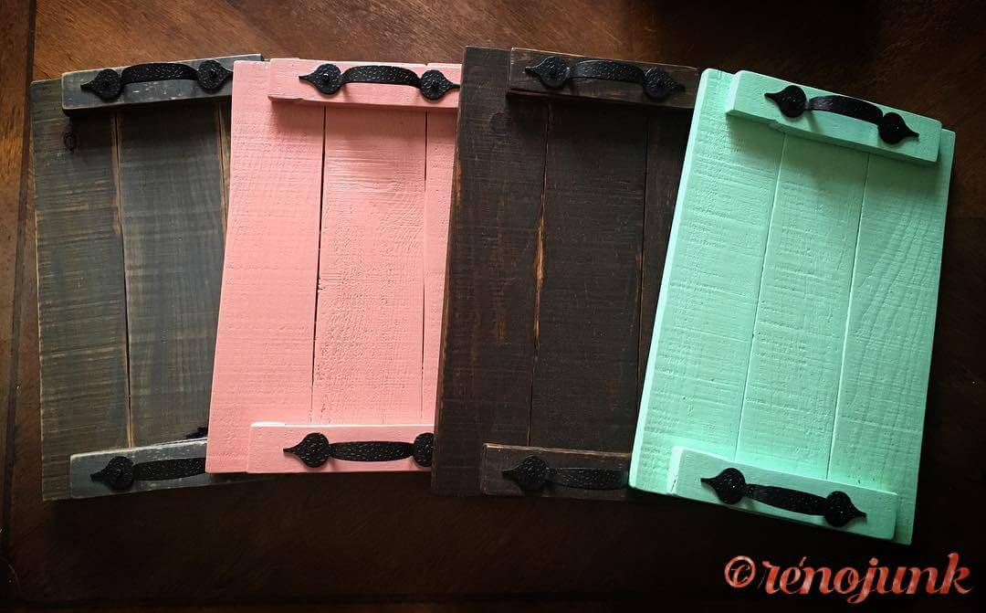 Wooden Pallet Rustic Small Trays