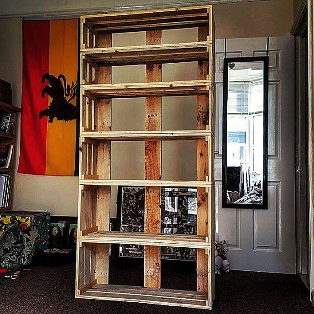 Wooden Pallet Book Case