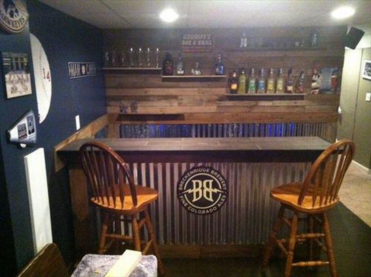 Bar Set Made From Wooden Pallets