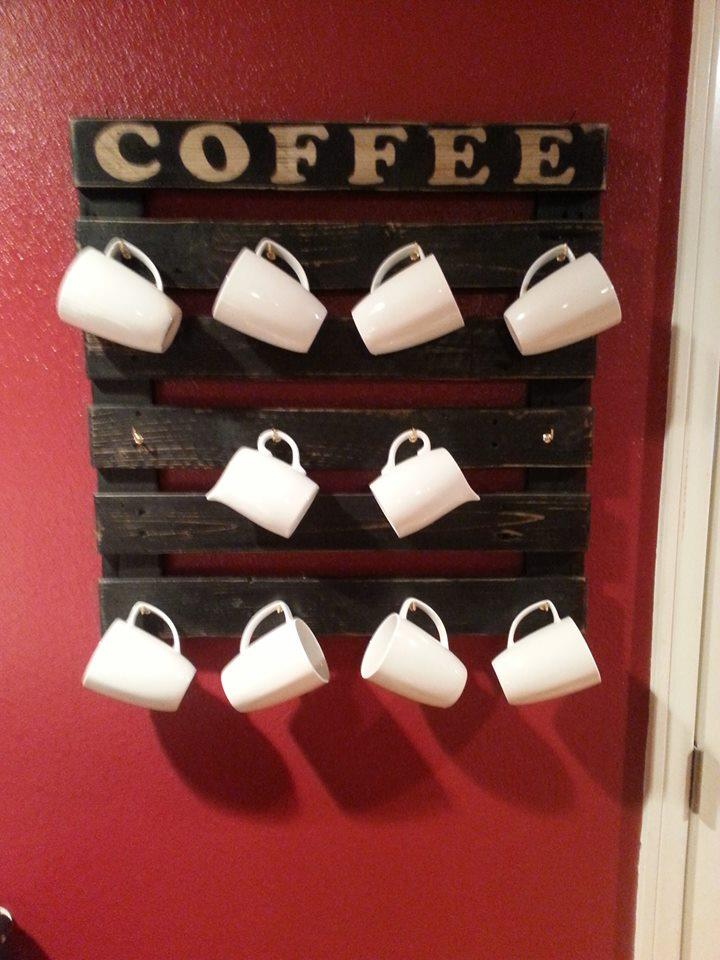 Coffee Cup Holder From Pallets