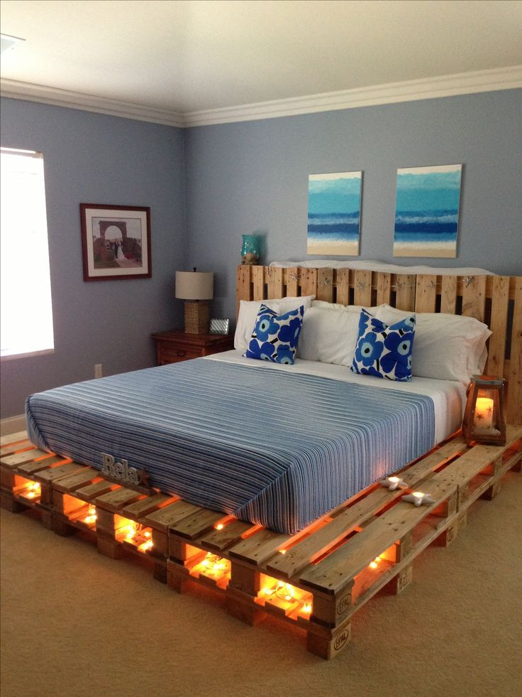Comfy Bed Made From Pallets
