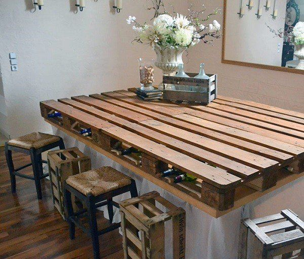 Wooden Pallet Bar consisting of Chairs and Tables