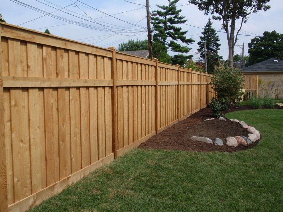 Strong wooden fence