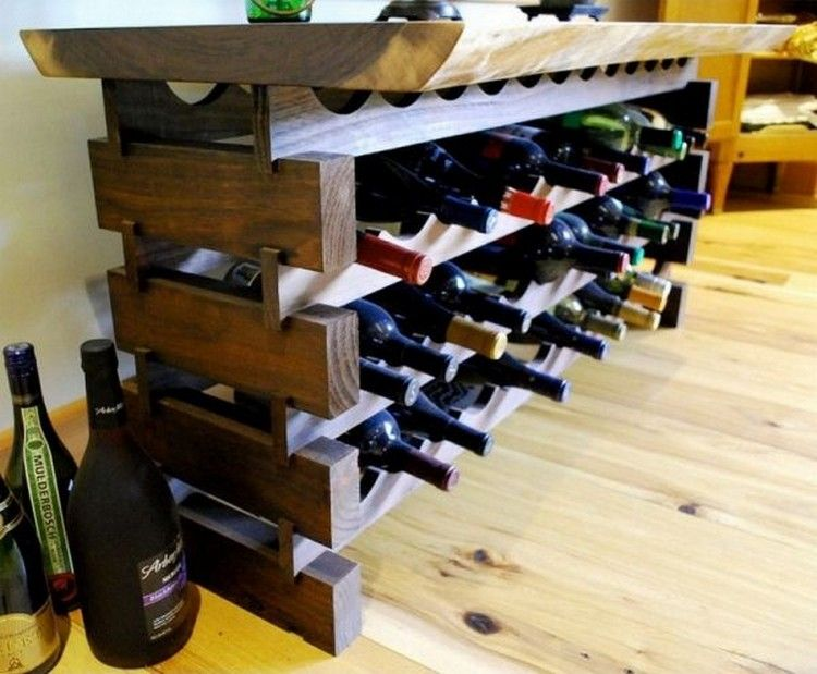Wine Rack to give your House a Rustic Look