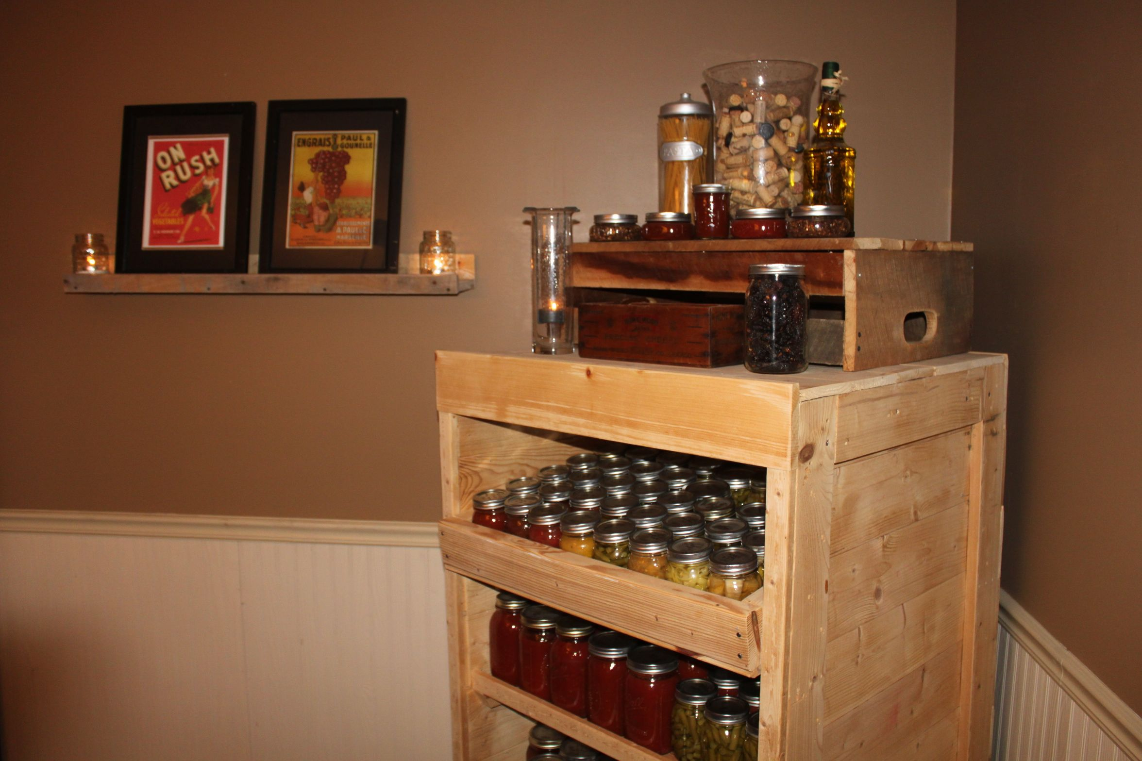 Wooden Pantry Cupboard for Cans