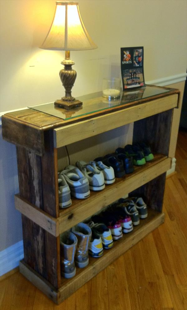 Pallet Shoe rack Ideas