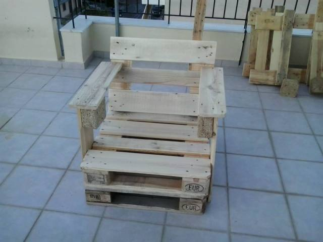 Cool Pallet Wood Chair Ideas
