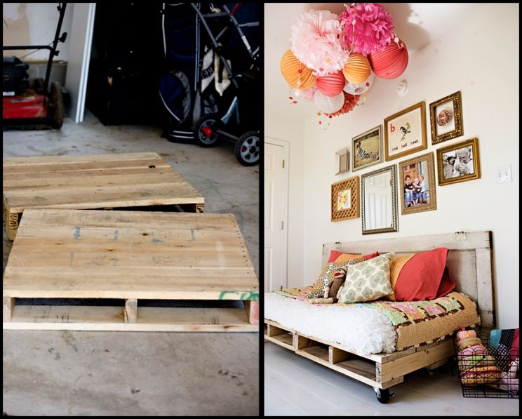 Pallet Reading Bed for the Nursery