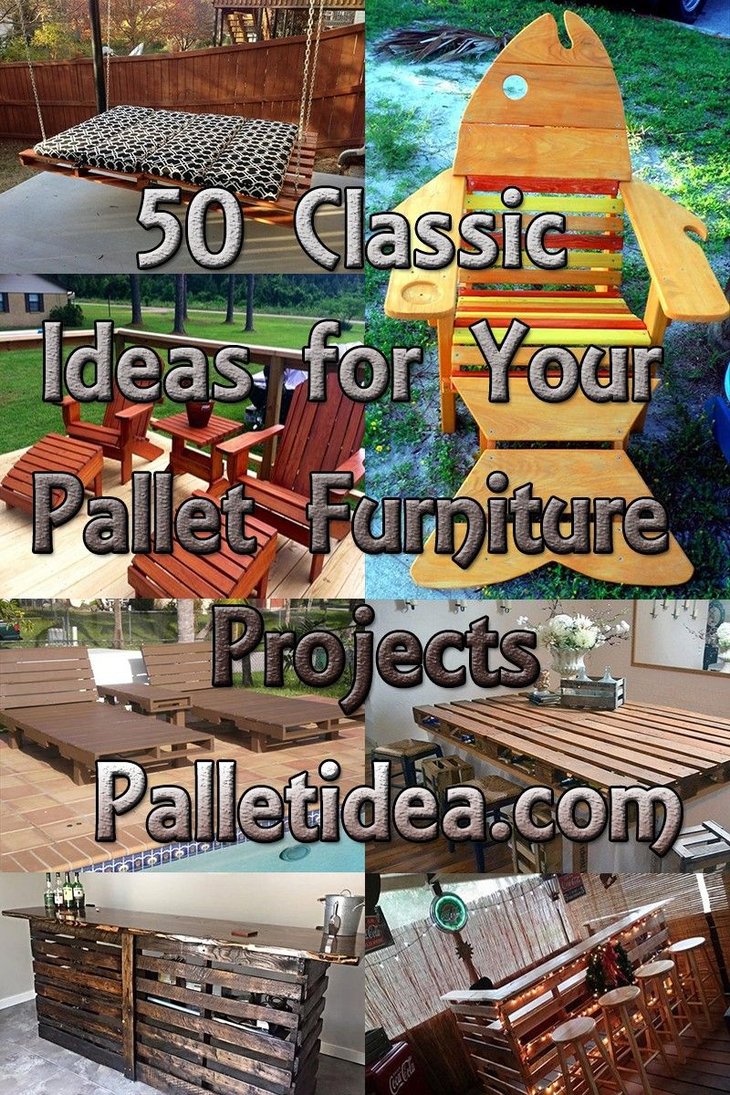 50 Classic Ideas for Your Pallet Furniture Projects
