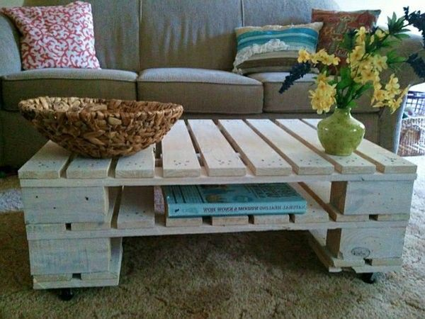 Beautiful Rolling out wooden pallet table
