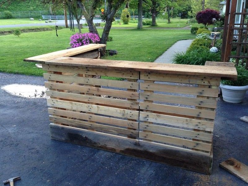 DIY Patio Pallet Bar