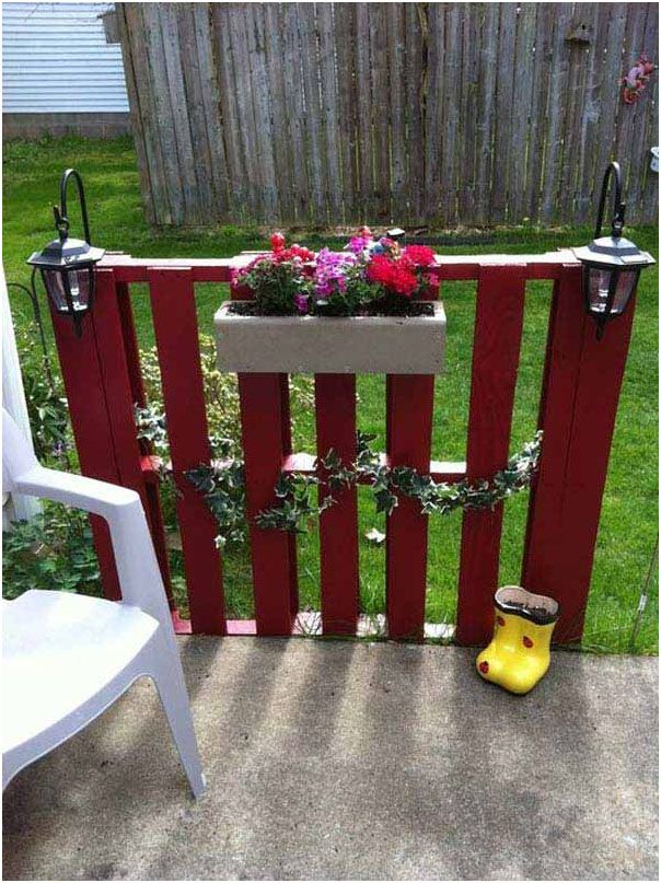 Fence with flower pots