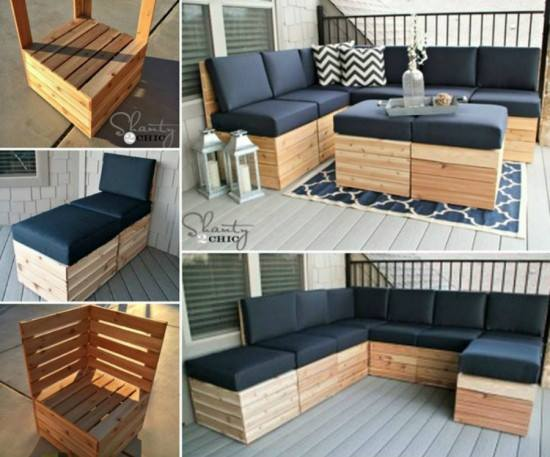 Process Of Making DIY Pallet Modular Corner Lounge