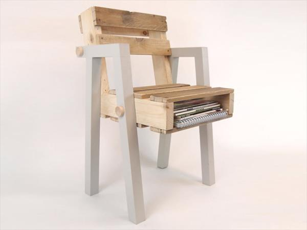 Pallet Chair with storage