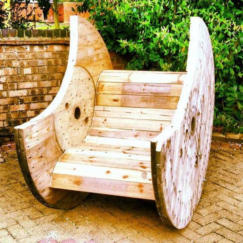 Pallet and Spool Chair