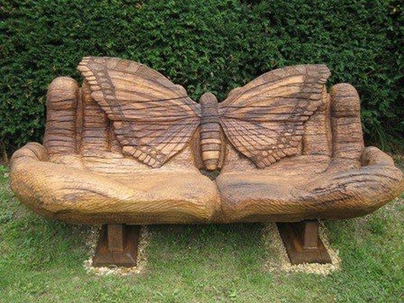 Power-Sculpted Contemplation Bench