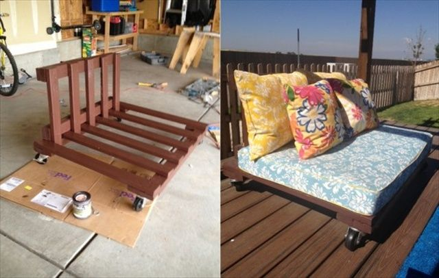 Process of making pallet patio furniture