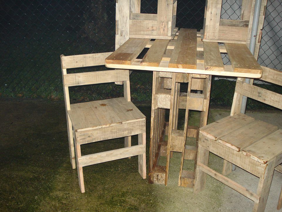 Two Pallet chair set