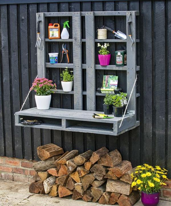 Wall mounted pallets for plants