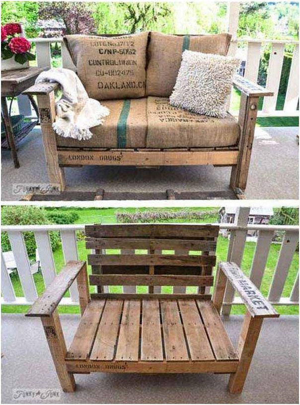 Wooden Pallet Armchairs