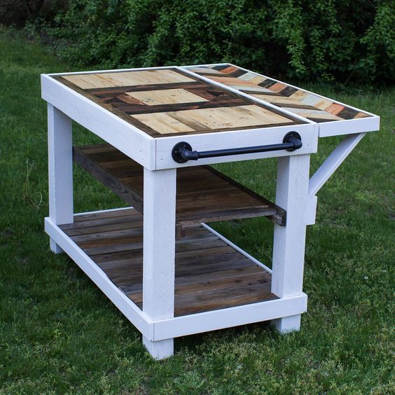 kitchen island made from wooden pallet projects ideas