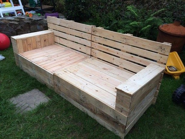 recycled pallet garden couch Ideas