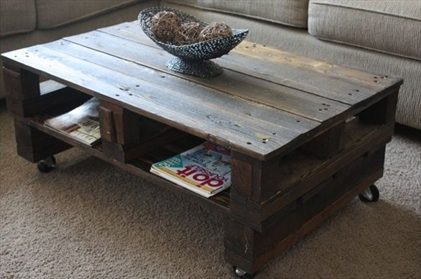 Pallet Wood Tea Table Ideas
