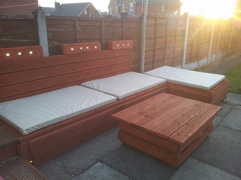 Pallet outdoor sofa.