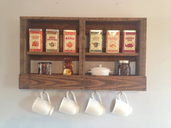 Tea Room storage and fixtures with Pallet wood