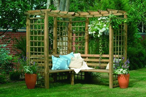 Wooden Pallet Backyard Arbor Bench