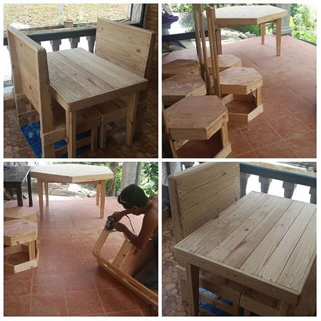 A Spacious and Modern Pallet Dining Table