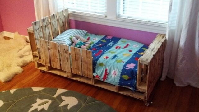 A Soothing Pallet Bed for Children