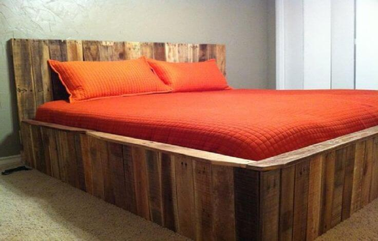 Pallet Contemporary Bed