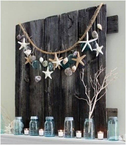 Pallet Fireplace Mount