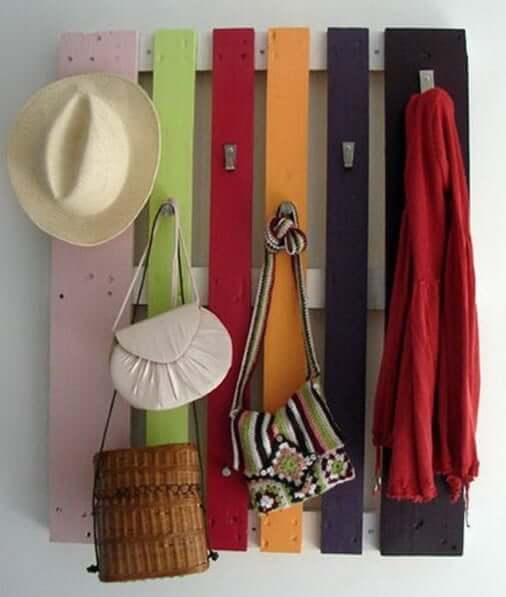 Pallet Jacket and Hat Rack
