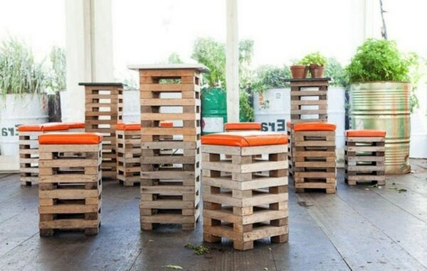 Pallet Wooden Stools