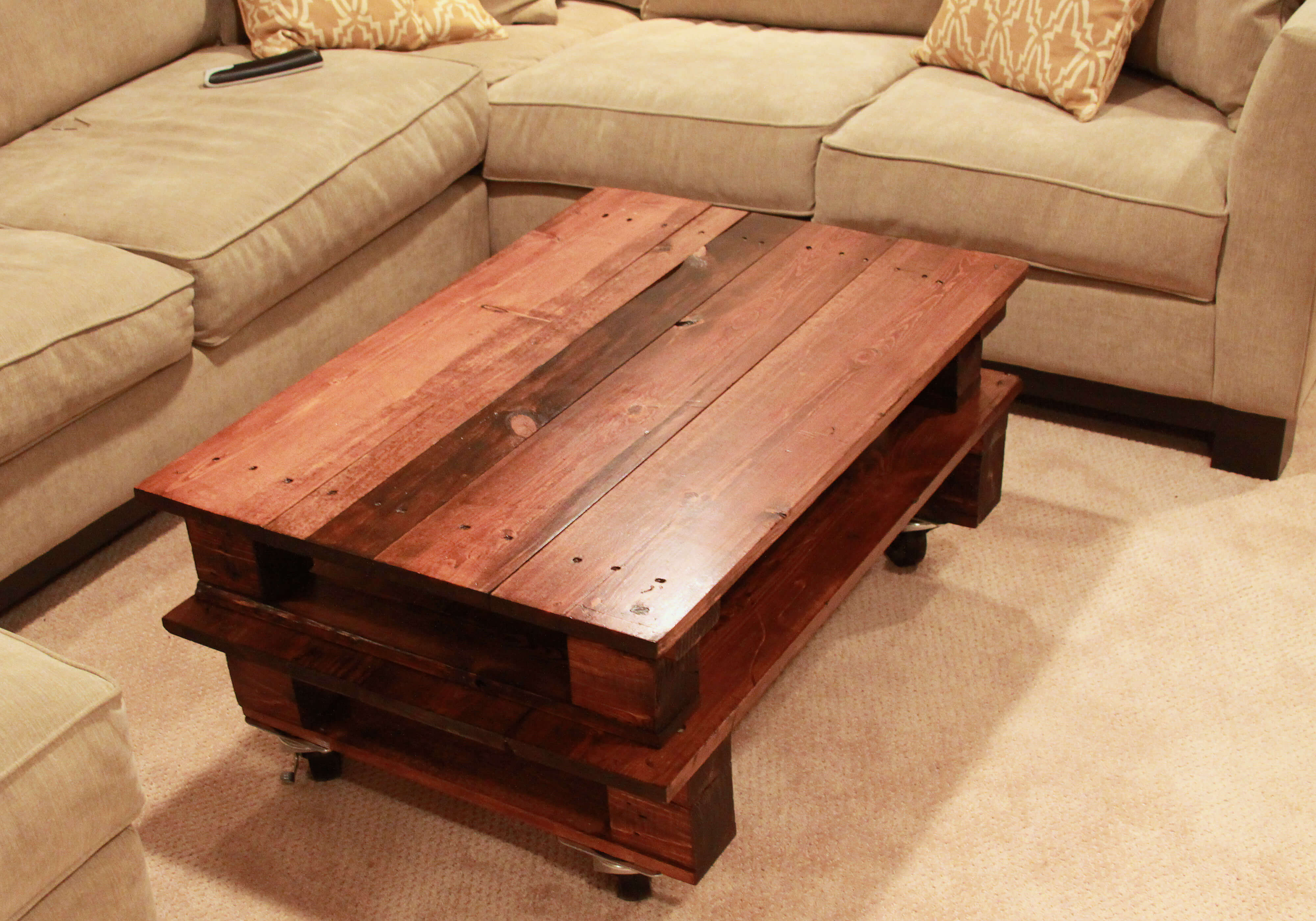 Three Pallet Coffee Table