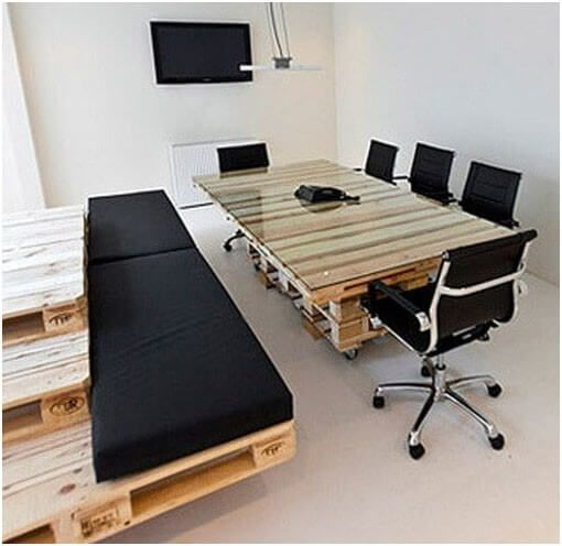 Sitting bench and Office Table