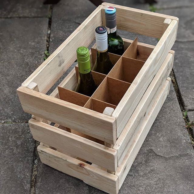 Pallet wine bottle storage