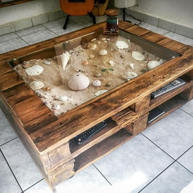 Pallet Sandbox with glass top