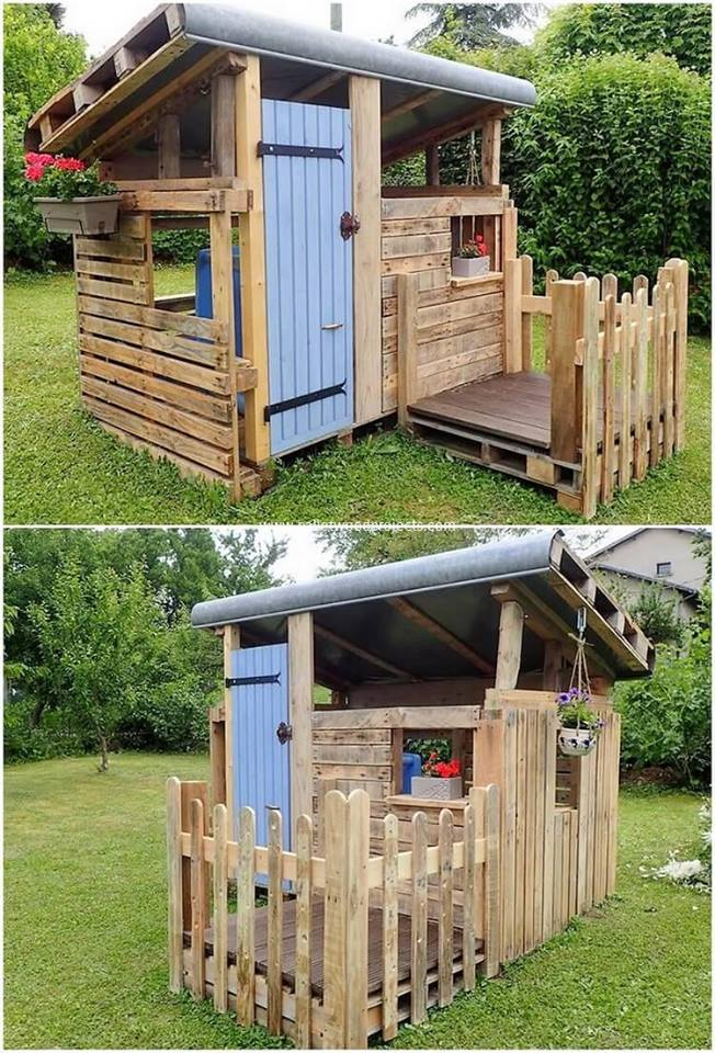 Pallet playhouse project