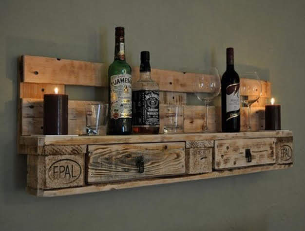Unique Pallet wine Rack