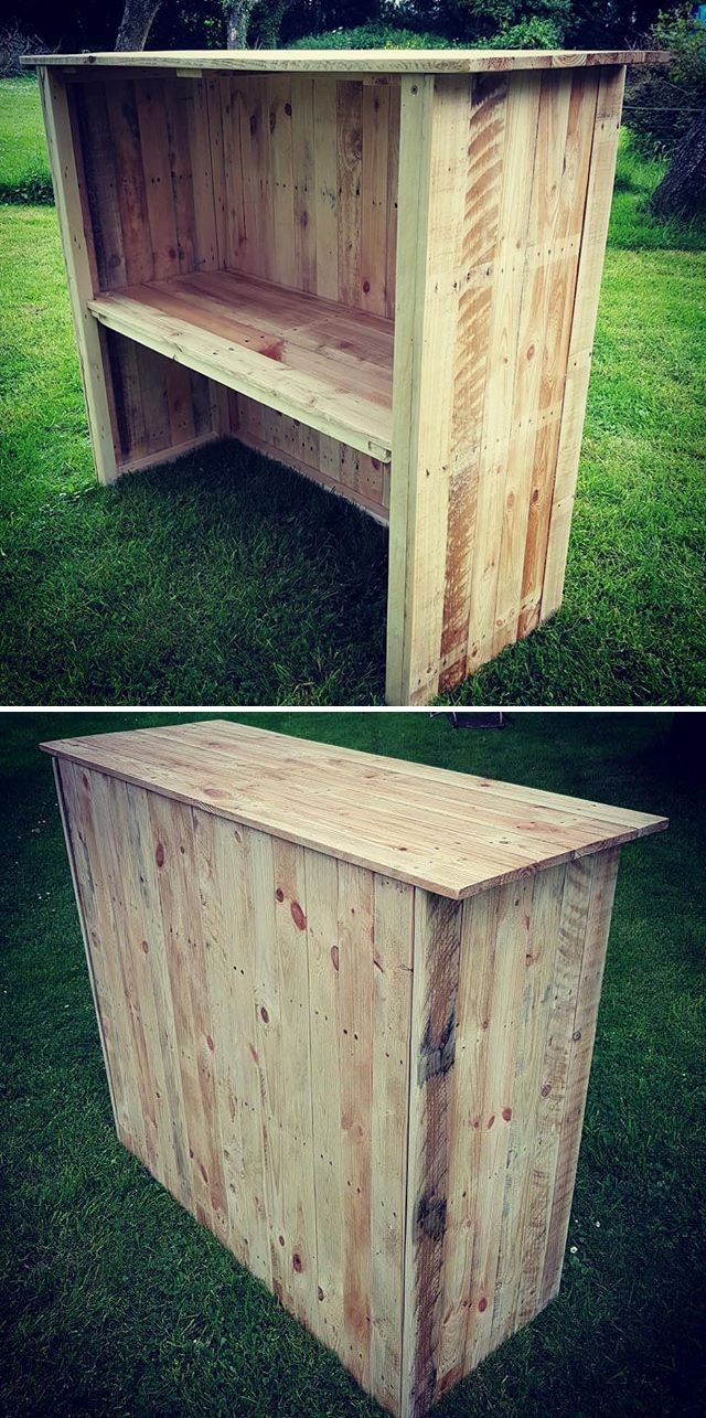 Pallet bar tablee