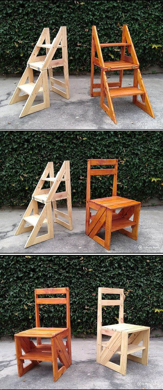 Pallet foldable chairs