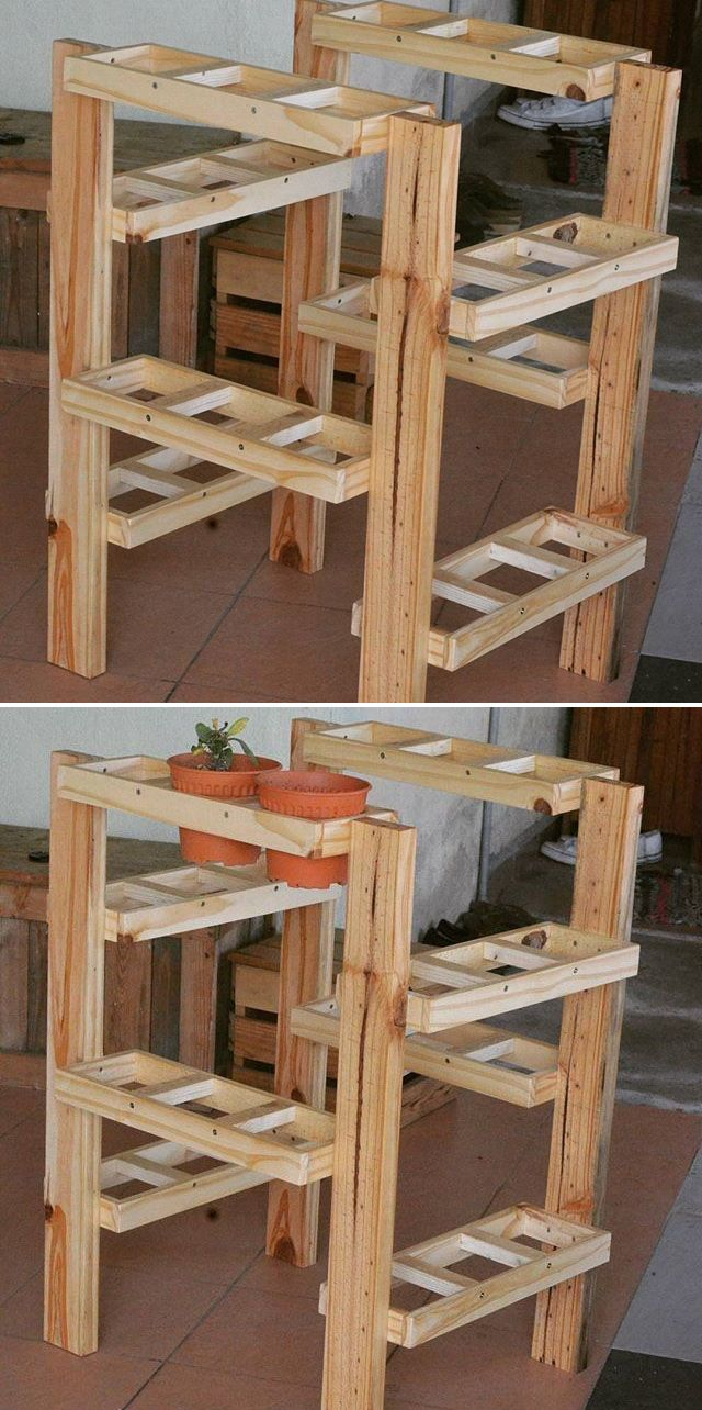 Pallet planter projects