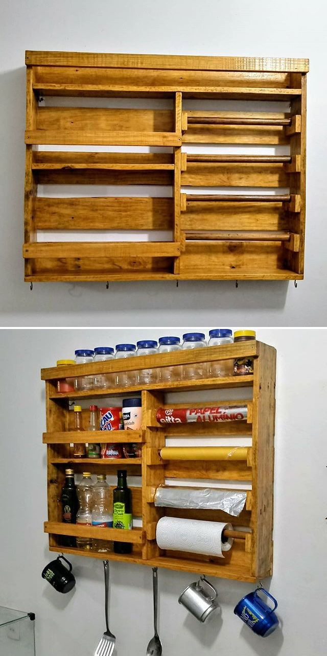 Pallet Wall Cabinets With Horizontal Storage Ideas