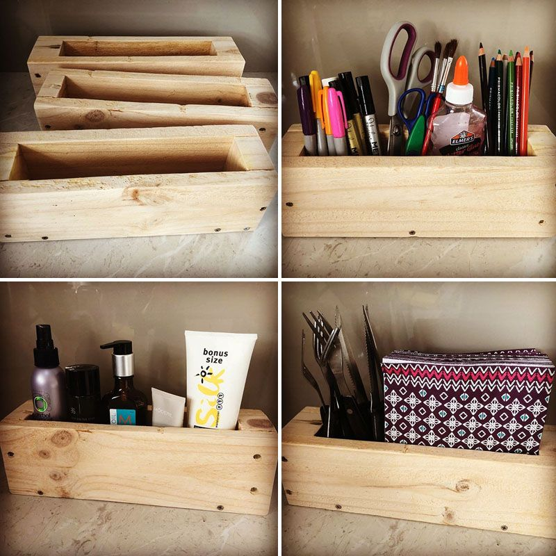 pallet side storage box
